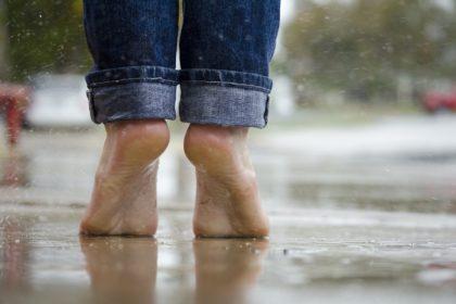 雨の日のレインシューズ